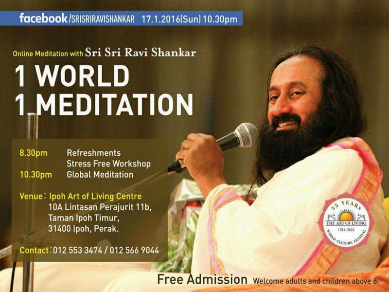 Announcement: Online Global Peace Meditation (Ipoh)