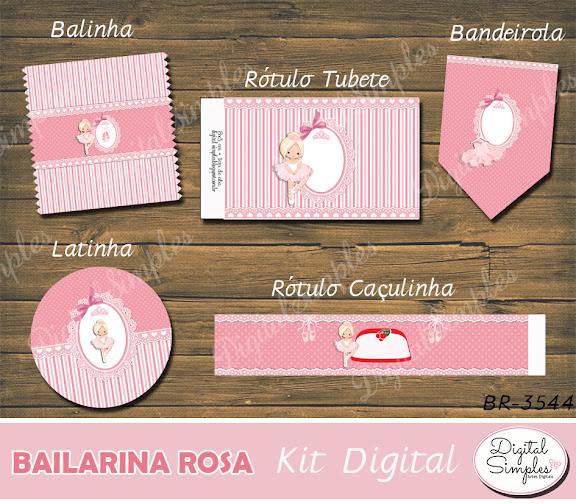 Kit Digital Bailarina Rosa  .....artesdigitalsimples@gmail.com