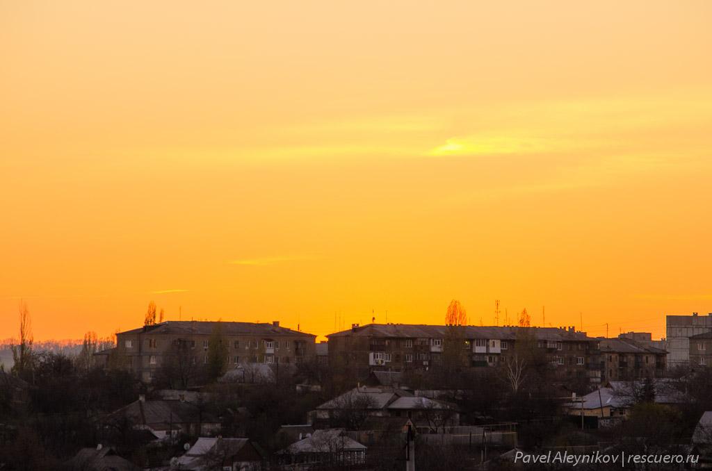 Закат над Торезом