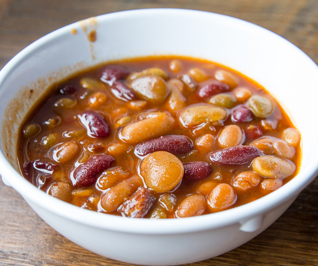 photo of a bowl of Bacon Baked Beans
