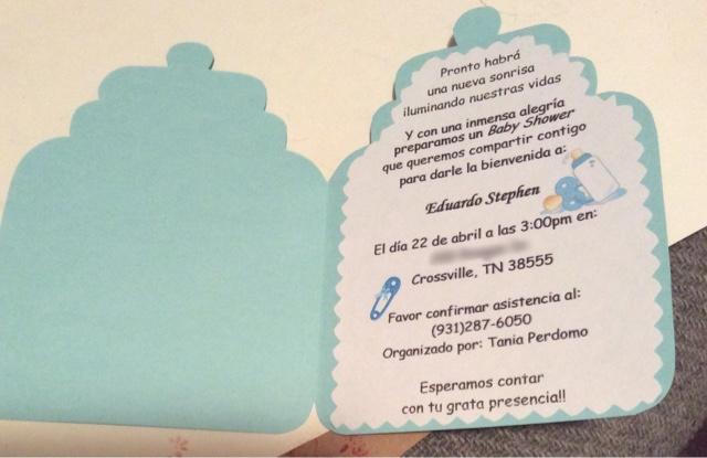 Crafts N Imagination Tarjeta De Invitación Baby Shower