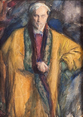 Leonid Pasternak - Self-Portrait in a Yellow Sheepskin Coat