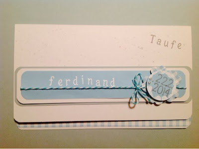Stampin up Taufkarte
