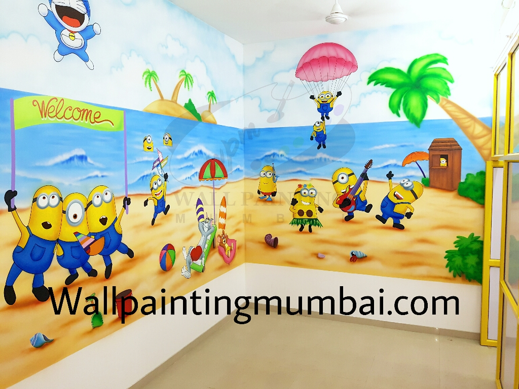 Playschool wall painting / wall mural