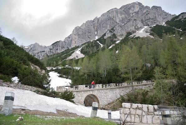 Anstieg zum Vršič Pass