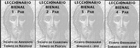 Leccionario Bienal Par completo cuatro volumenes
