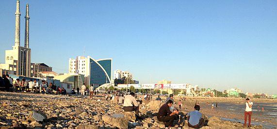 Strand von Bandar Abbas, Hormozgan, Iran