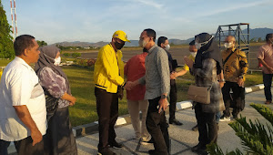 Jelang Musda, Wakil Ketua DPD II Golkar Kota Bima Jemput Ketua DPD I Golkar Prov NTB