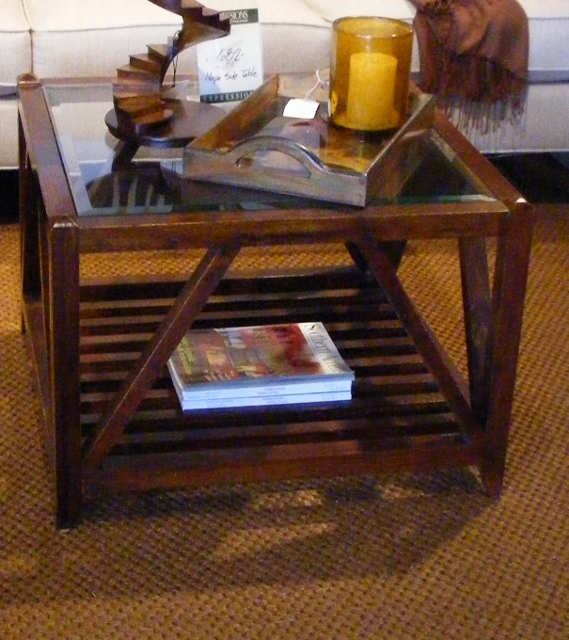 Ethan Allen Copper Top Coffee Table: Cafe DeCocco: Transitional Interior Design, Part 3, Coffee