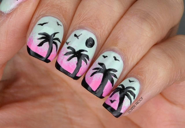 LACC Palm Tree Nail Art