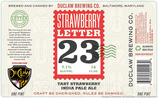 DuClaw Adding Strawberry Letter 23 Cans