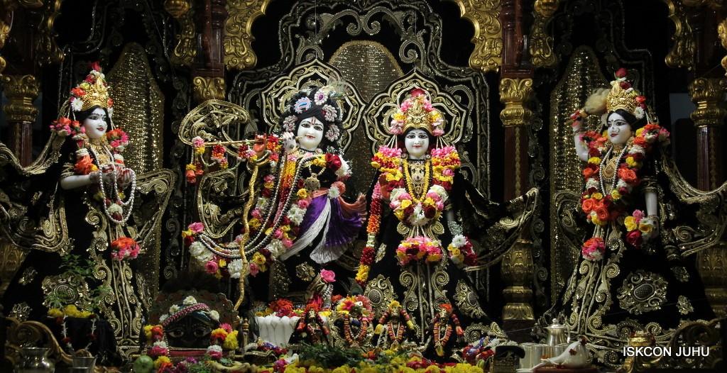 ISKCON Juhu Sringar Deity Darshan 7 Jan 2017  (1)