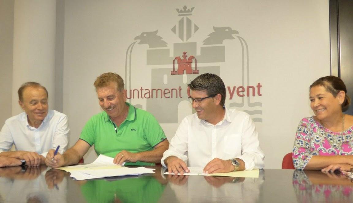 Ontinyent CF Ajuntament Conveni