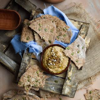 Whole Grain Pitas with Lentil Hummus Dip