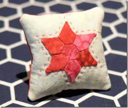 mini star pincushion english paper piecing