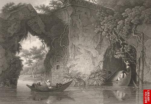 Ruins of Tongi Bridge by Charles D'Oyly in 1825