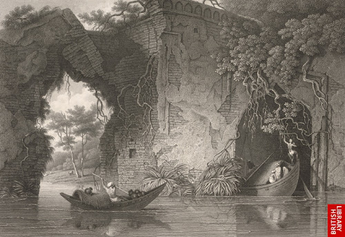 Ruins of Tongi Bridge by Charles D'Oyly in 1825