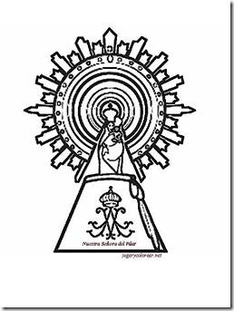 Dibujos Virgen del Pilar para colorear   colorear tus dibujos