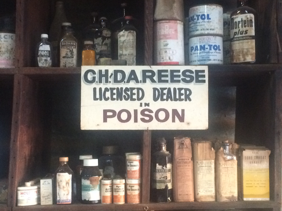 A sign inside Queensland oldest continually run store.