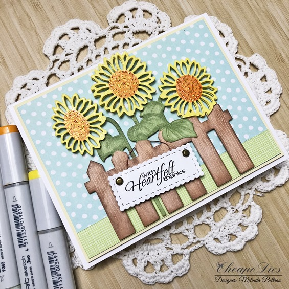 sunflower fence card 2