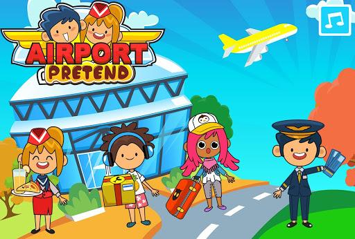 My Pretend Airport - Kids Travel Town APK