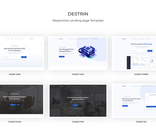 Destin - Bootstrap 5 Landing Page Template - 1