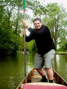 Patrick punting on the Cherwell