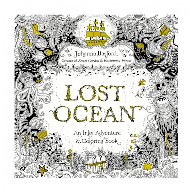 Lost Ocean  Pages English Edition Coloring Book For Children Adult  Relieve Stress Kill Time Graffiti Painting Drawing Book Free Ship