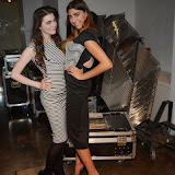 WWW.ENTSIMAGES.COM -    Rose Merry Lloyd and Kinga Kurek      pre cat walk at        Stella McCartney Foundation Event at Louise Blouin Building 3 Olaf Street London September 24th 2013                                             Photo Mobis Photos/OIC 0203 174 1069