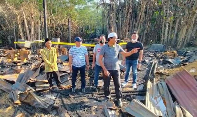 Ketua dan Anggota DPRD Kapuas Kunjungi Lokasi Kebakaran di Kapuas Timur