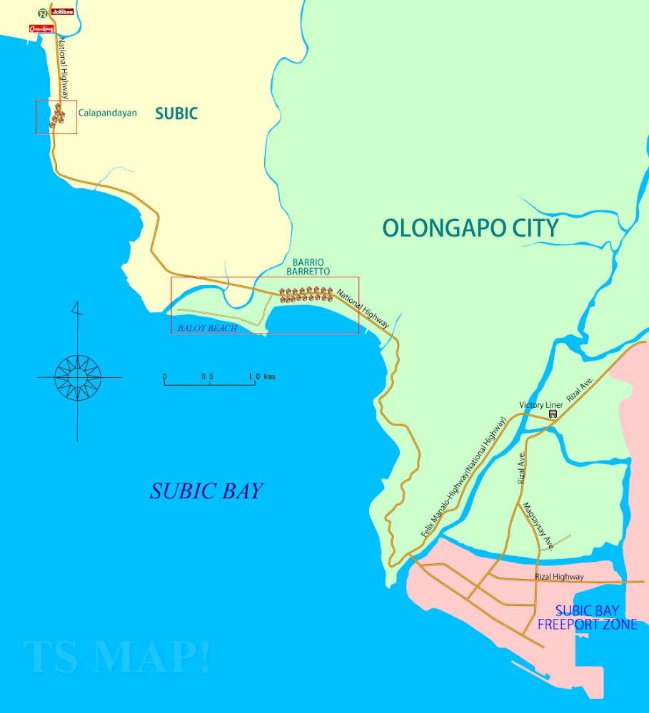 スービックの広域図