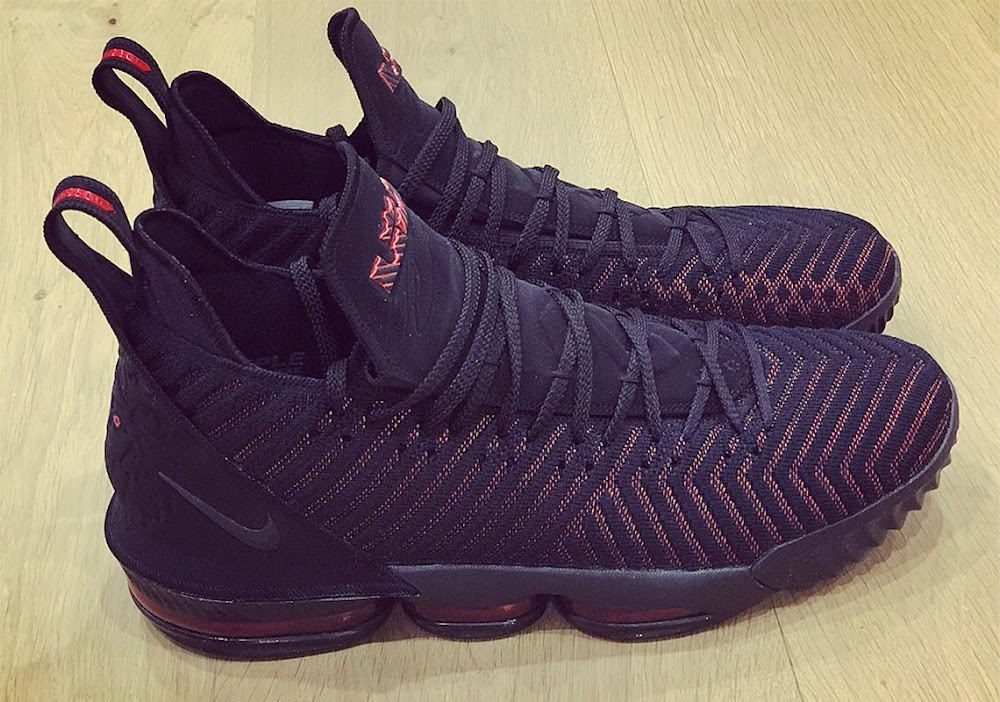 6ddcaf277430e ... King James Unveils the Nike LeBron 16 in Black and Red