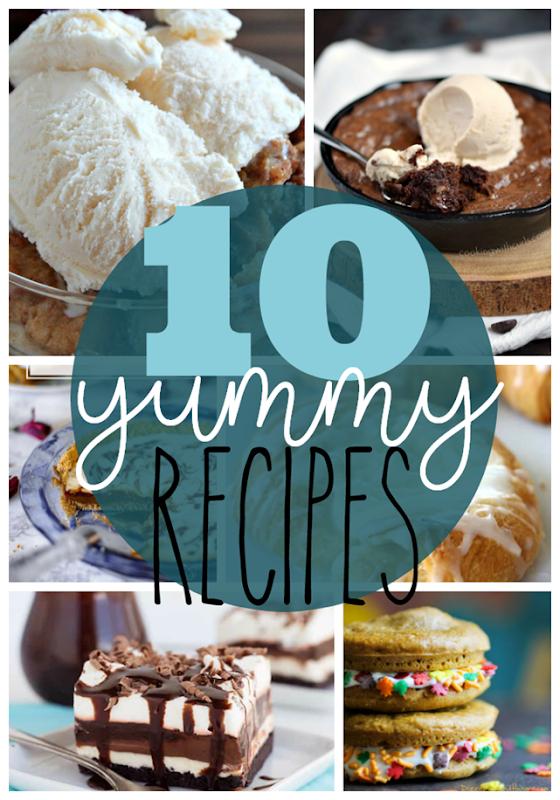 10 Yummy Recipes at GingerSnapCrafts.com #yummy #recipes #recipe