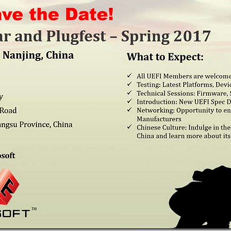 UEFI Spring Plugfest 2017–Registration Open