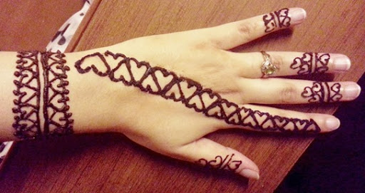 Mehndi Patterns For Small Hands : Top heart shaped mehndi designs bling sparkle