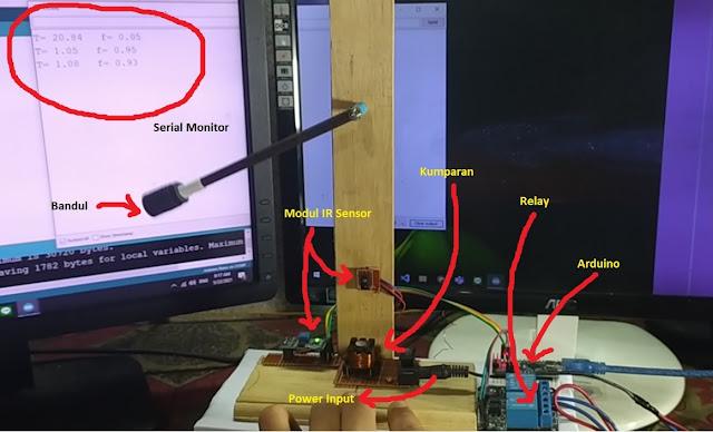 Sensor dan arduino bandul elektromagnetik