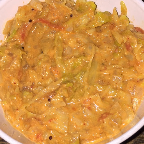 My Cooking Journal...: Cabbage Kurma