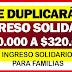 ¿Gobierno aumentaría a $320.000 el subsidio de Ingreso Solidario? ver más detalles