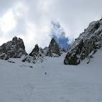 Descente dans une neige plutôt agréable, surtout dans la partie supérieure.