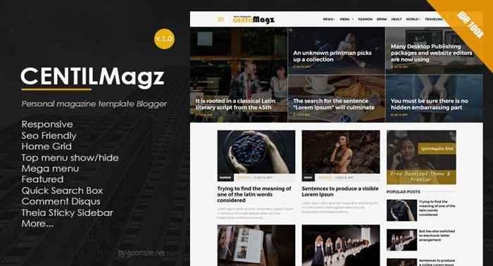Centilmagz- Latest Version- Premium Blogger Template Free Download.