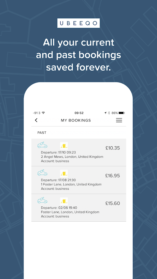 Ubeeqo Carsharing- screenshot