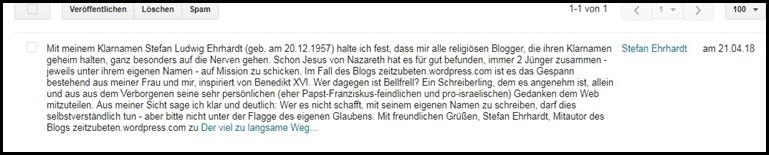 Stefan Erhart wird von Bellfrell genervt.