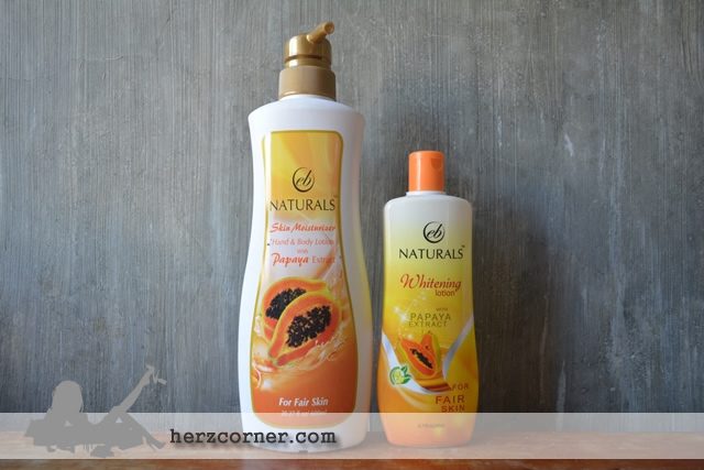 EB Naturals Whitening Lotion with Papaya Extract