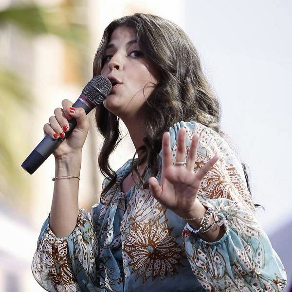 Canadian singer Nikki Yanofsky performs on stage during Nice Jazz Festival on July 10, 2014, southeastern France.