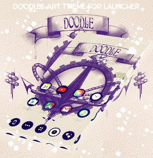Doodles Art Theme for Launcher - náhled