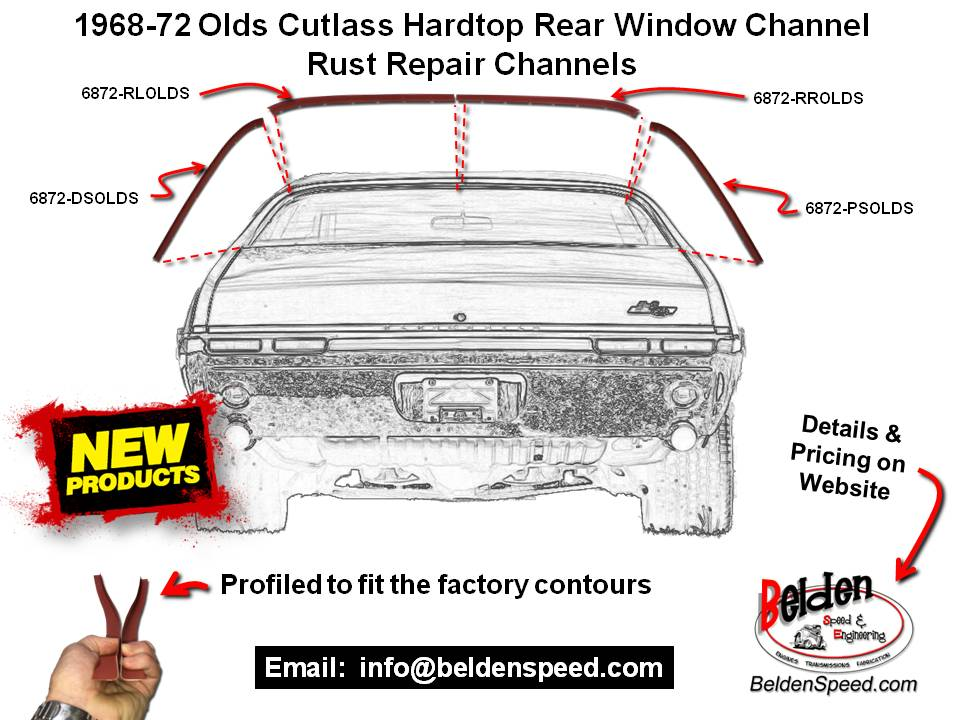 Have Rear Window Channel Rust in Your 1968-72 Olds Cutlass/S/442