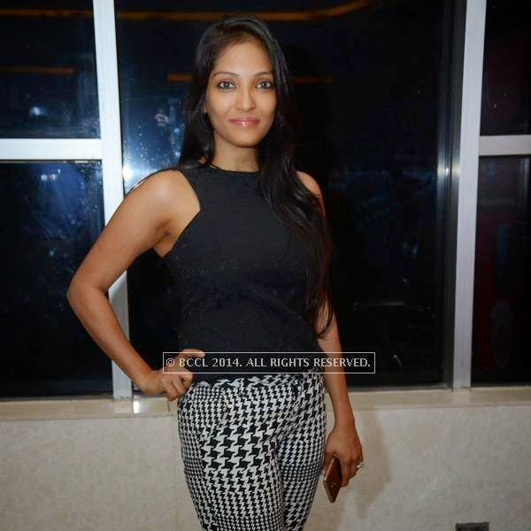 Neha during the screening of Kick in Hyderabad.
