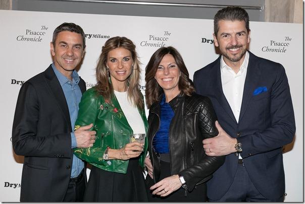 Alessandro Costacurta Martina Colombari Andrea Berton con la moglie