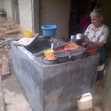 A pila - A kind of sink/storage facility for water for each household