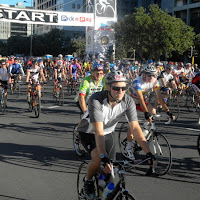 Start of Cape Argus bicycle race